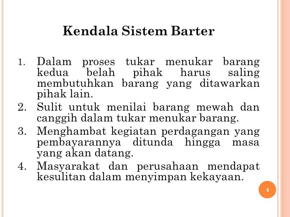 Kendala Sistem Barter 1.