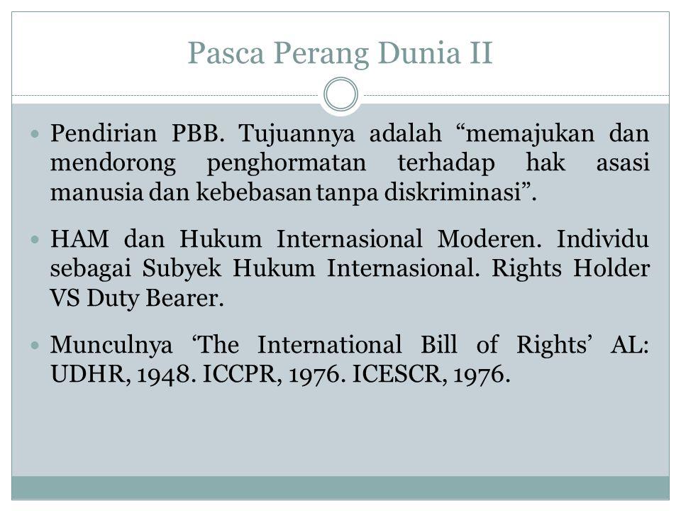 Bagaimana dengan sejarah pengakuan HAM di Indonesia, baik sebelum kemerdekaan maupun setelah kemerdekaan?