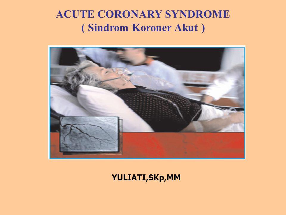 ACUTE CORONARY SYNDROME ( Sindrom Koroner Akut ) YULIATI,SKp,MM
