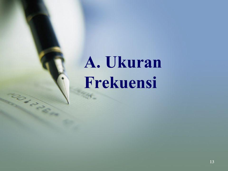 A. Ukuran Frekuensi 13