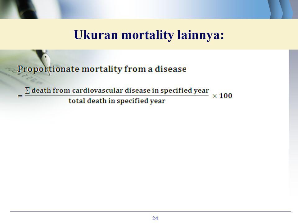 Ukuran mortality lainnya: 24