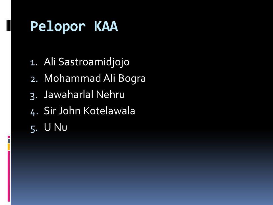 Pelopor KAA 1.Ali Sastroamidjojo 2. Mohammad Ali Bogra 3.