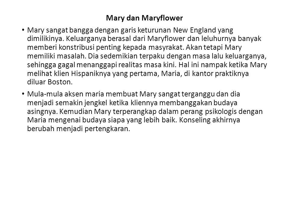 Mary dan Maryflower Mary sangat bangga dengan garis keturunan New England yang dimilikinya. Keluarganya berasal dari Maryflower dan leluhurnya banyak