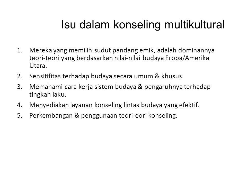 Keterkaitan dalam pelayanan konseling Masyarakat Indonesia merupakan masyarakat dengan tingkat keanekaragaman yang sangat kompleks.