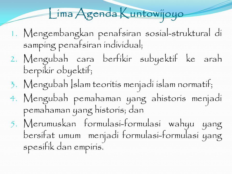 Lima Agenda Kuntowijoyo 1.