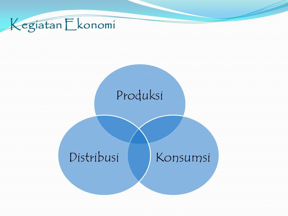 Kegiatan Ekonomi Produksi Konsumsi Distribusi