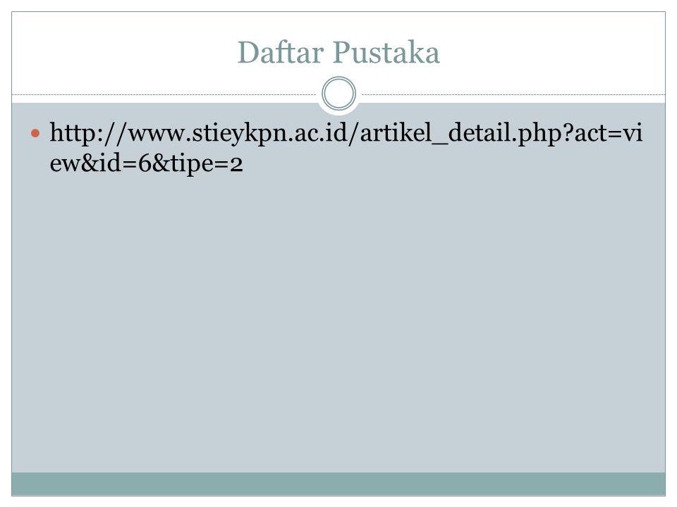 Daftar Pustaka http://www.stieykpn.ac.id/artikel_detail.php?act=vi ew&id=6&tipe=2
