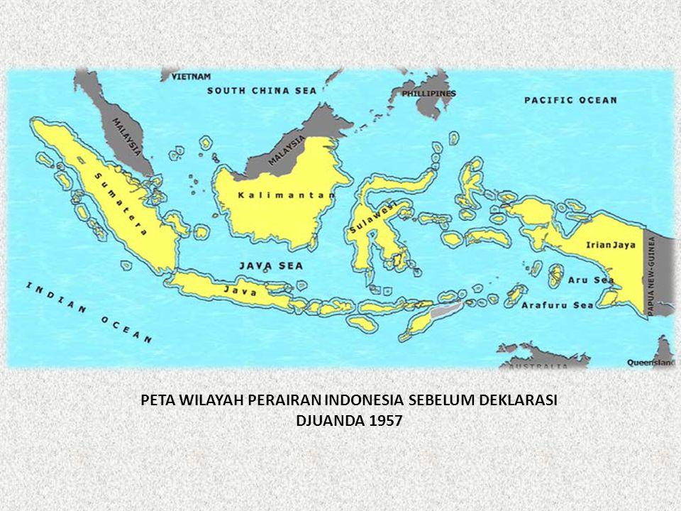 PETA WILAYAH PERAIRAN INDONESIA SEBELUM DEKLARASI DJUANDA 1957