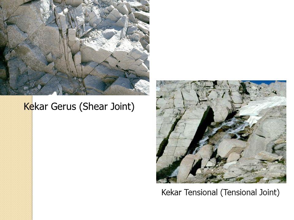 Kekar Gerus (Shear Joint) Kekar Tensional (Tensional Joint)