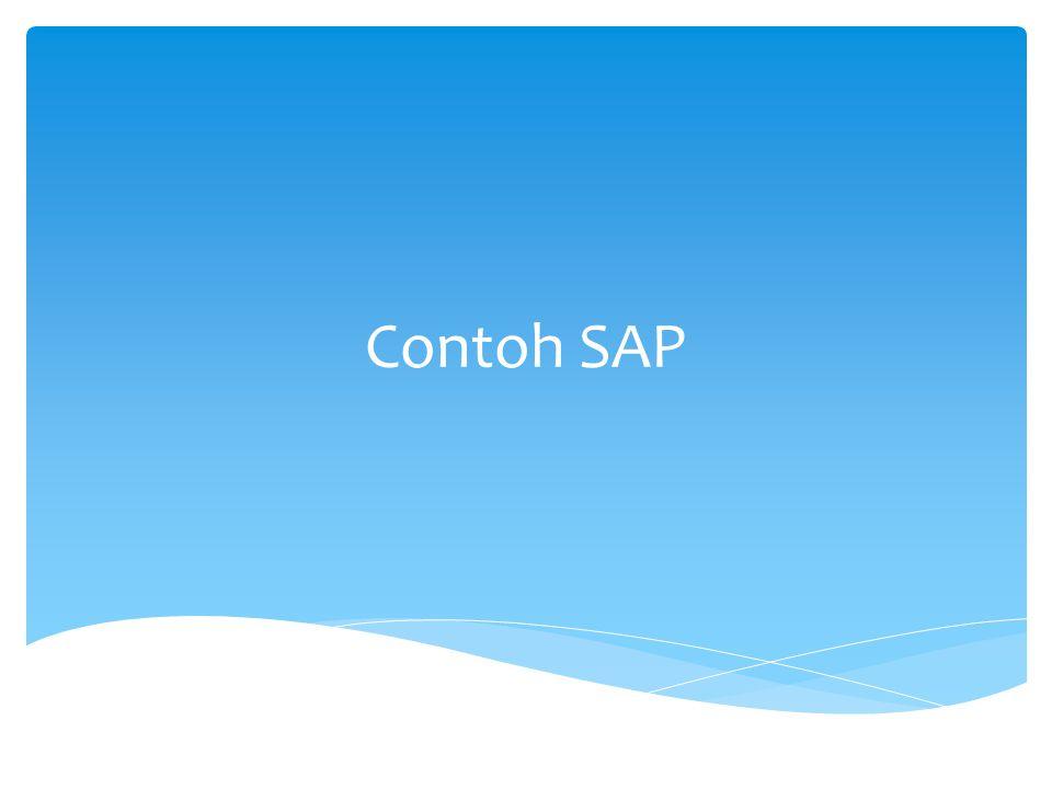 Contoh SAP