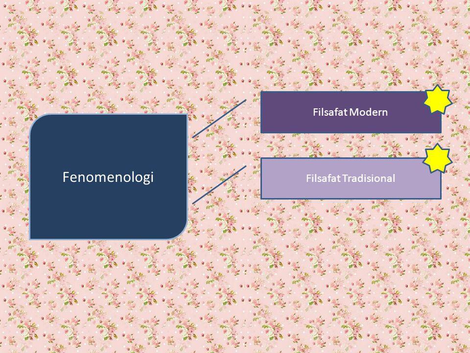 Fenomenologi Filsafat Modern Filsafat Tradisional