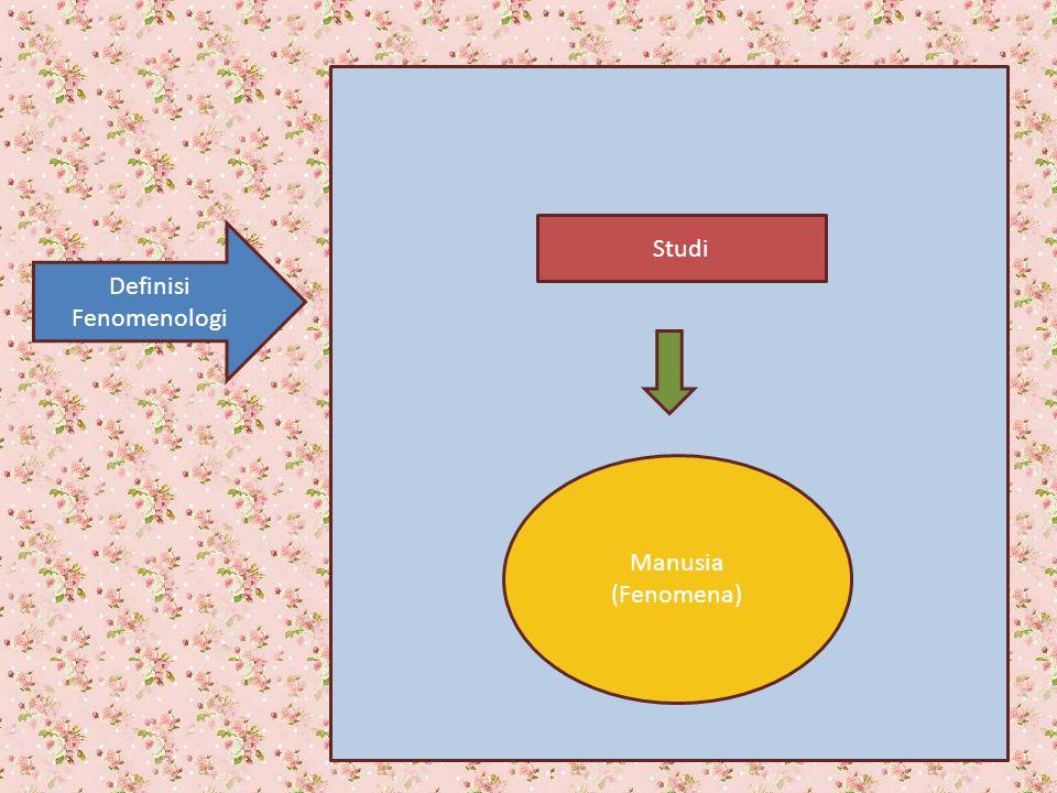 Definisi Fenomenologi Manusia (Fenomena) Studi