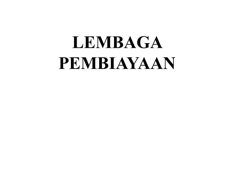 LEMBAGA PEMBIAYAAN