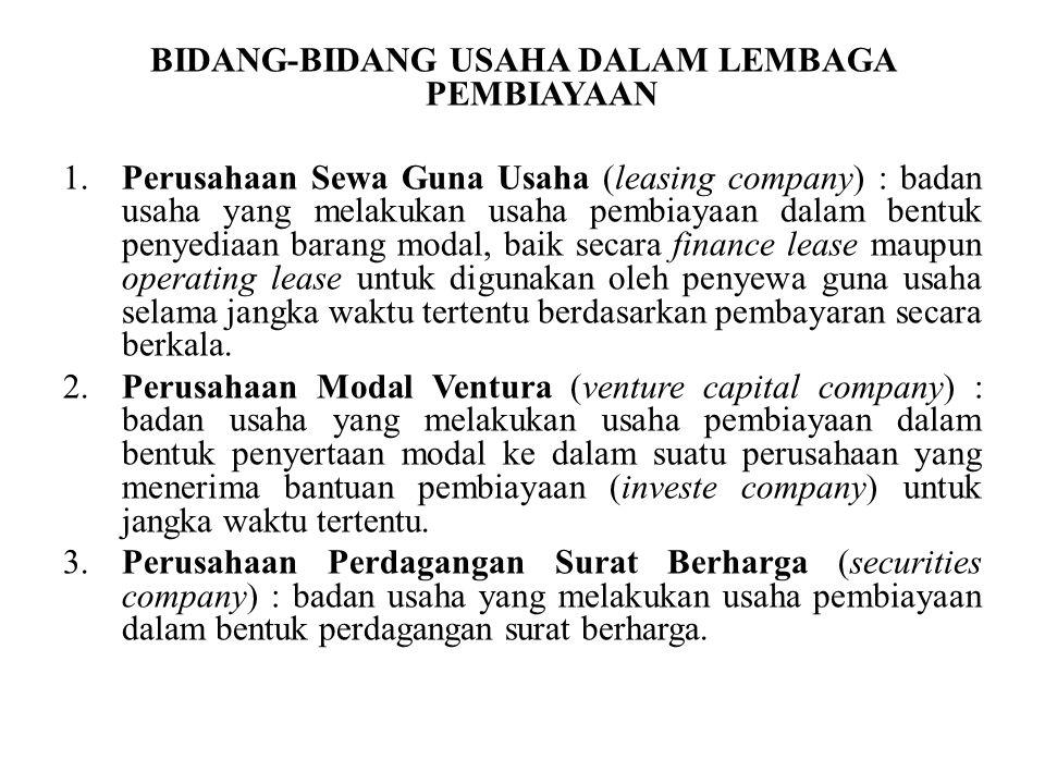 4.Perusahaan Anjak Piutang (factoring company) : badan usaha yang melakukan usaha pembiayaan dalam bentuk pembelian dan/atau pengalihan serta pengurusan piutang atau tagihan jangka pendek suatu perusahaan dari transaksi perdagangan dalam atau luar negeri.