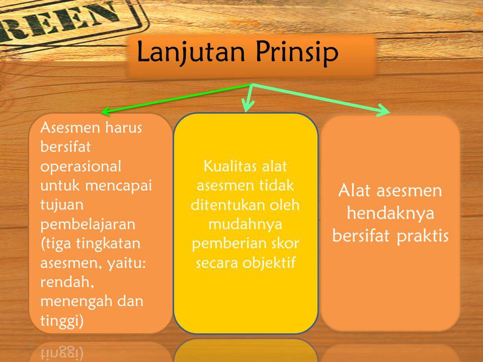 KONSEP AUTHENTIC 3 Asesmen harus ditujukan untuk meningkatkan kualitas belajar dan pengajaran Metode Asesmen harus dirancang sedemikian rupa sehingga