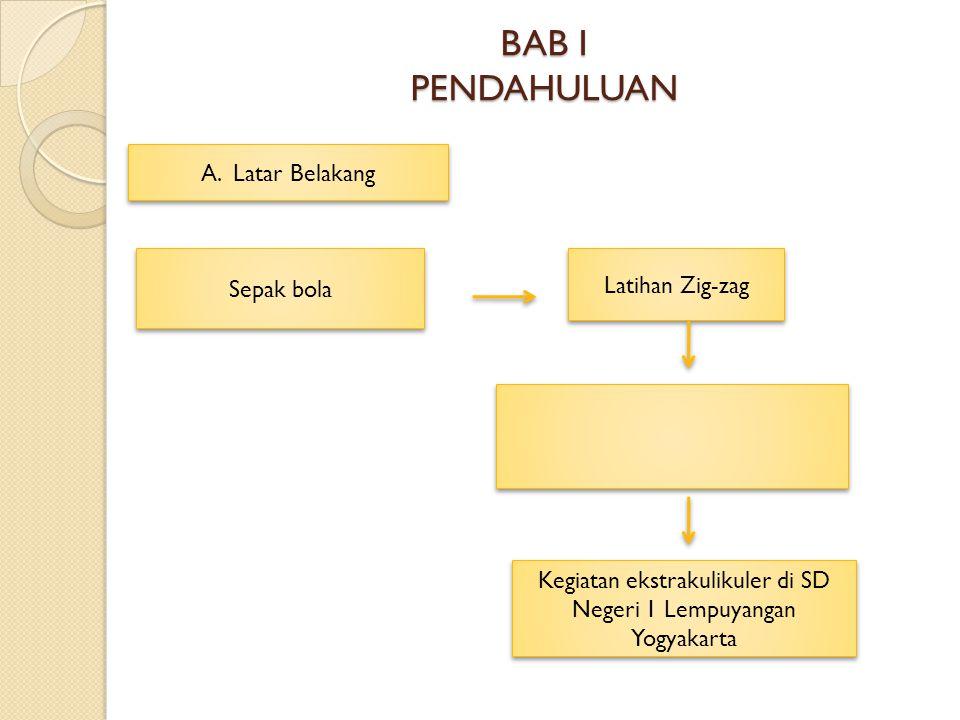 BAB I PENDAHULUAN A. Latar Belakang Sepak bola Latihan Zig-zag Kegiatan ekstrakulikuler di SD Negeri 1 Lempuyangan Yogyakarta