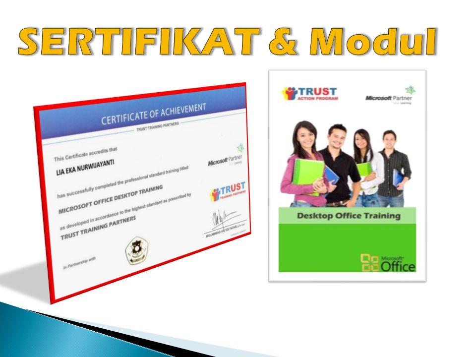  Mengikuti prosedur dari kurikulum instansi terkait  Materi ACTION mengikuti standarisasi dari Microsoft (MOC)  Pengakuan sertifikasi bukan hanya nasional tetapi juga international  Memberikan One-Stop Education  Biaya terjangkau