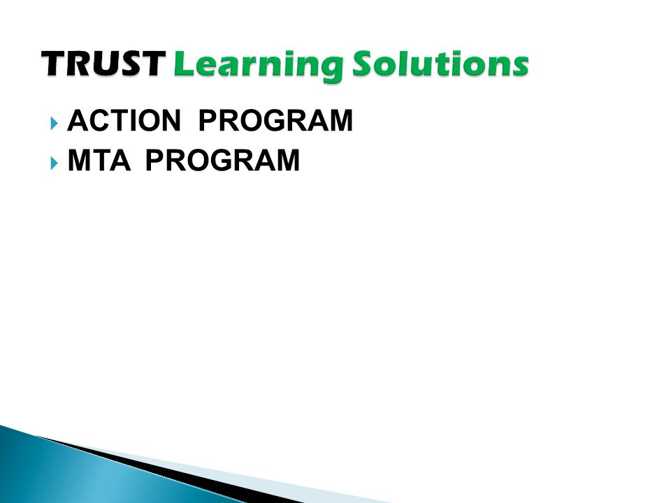  ACTION PROGRAM  MTA PROGRAM
