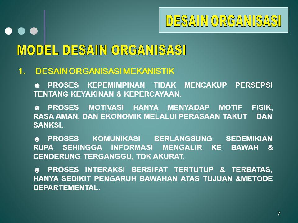 28 MENGELOLA PERUBAHAN ORGANISASI I.Perubahan yang direncanakan.
