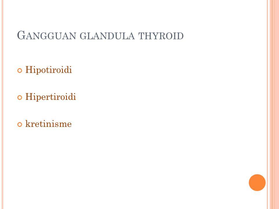 G ANGGUAN GLANDULA THYROID Hipotiroidi Hipertiroidi kretinisme