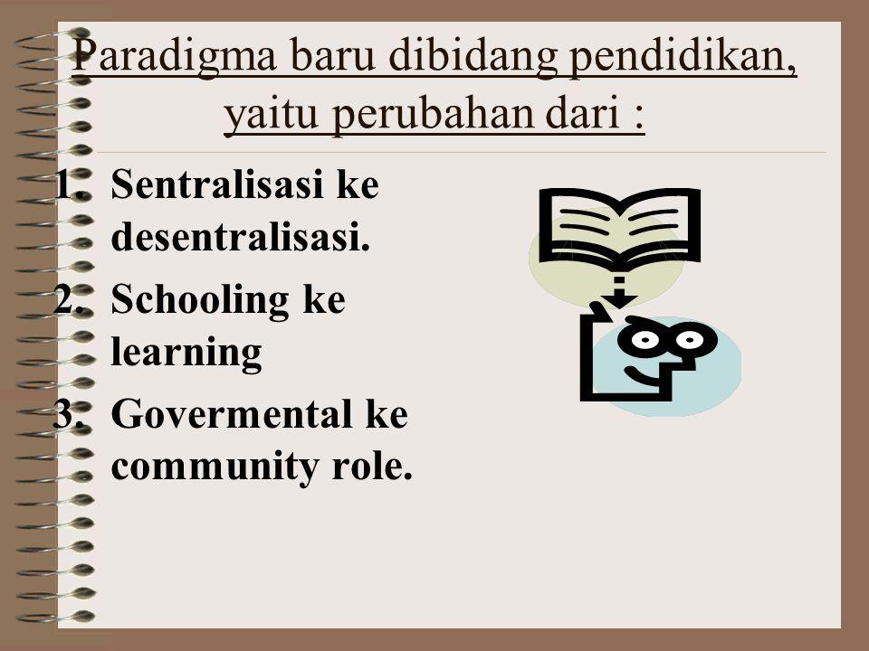 Bahan sosialisasi MBS1 LATAR BELAKANG Mengapa perlu ada MBS? Jawabnya: karena mutu/kualitas pendidikan kita (semakin) memprihatinkan. Banyak penyebab