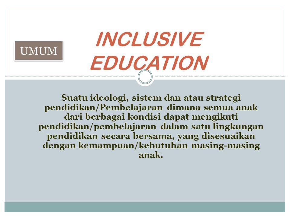  Pemanfaatan siswa normal sebagai tutor.