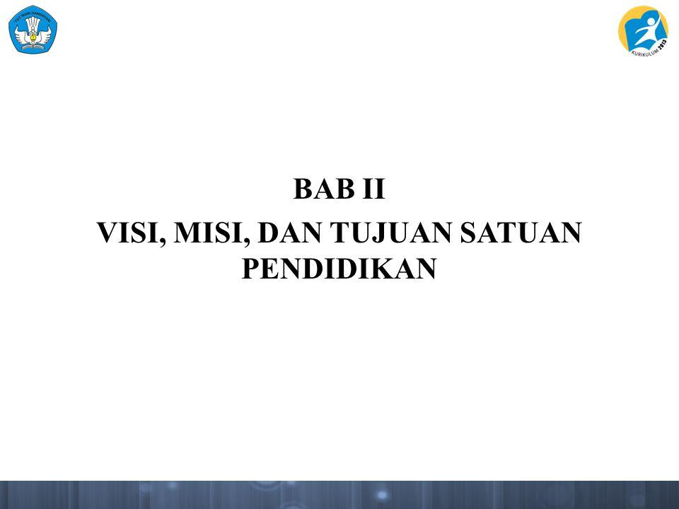 BAB II VISI, MISI, DAN TUJUAN SATUAN PENDIDIKAN