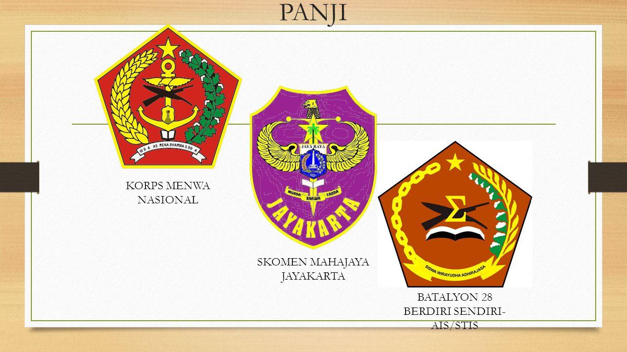 PANJI KORPS MENWA NASIONAL SKOMEN MAHAJAYA JAYAKARTA BATALYON 28 BERDIRI SENDIRI- AIS/STIS