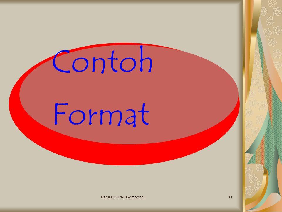 Contoh Format 11Ragil.BPTPK. Gombong.