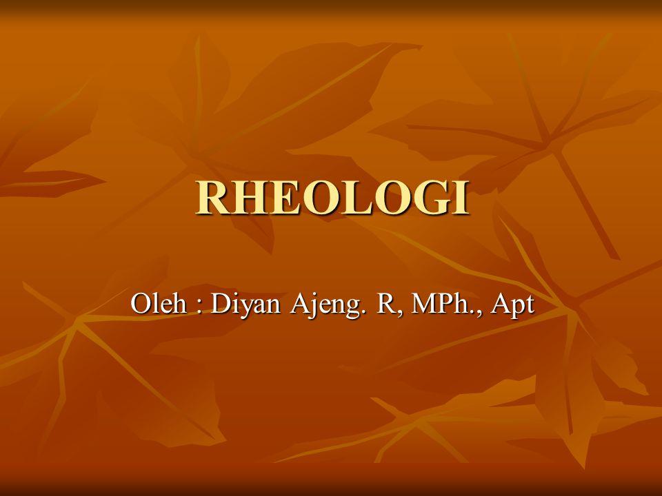 RHEOLOGI Oleh : Diyan Ajeng. R, MPh., Apt