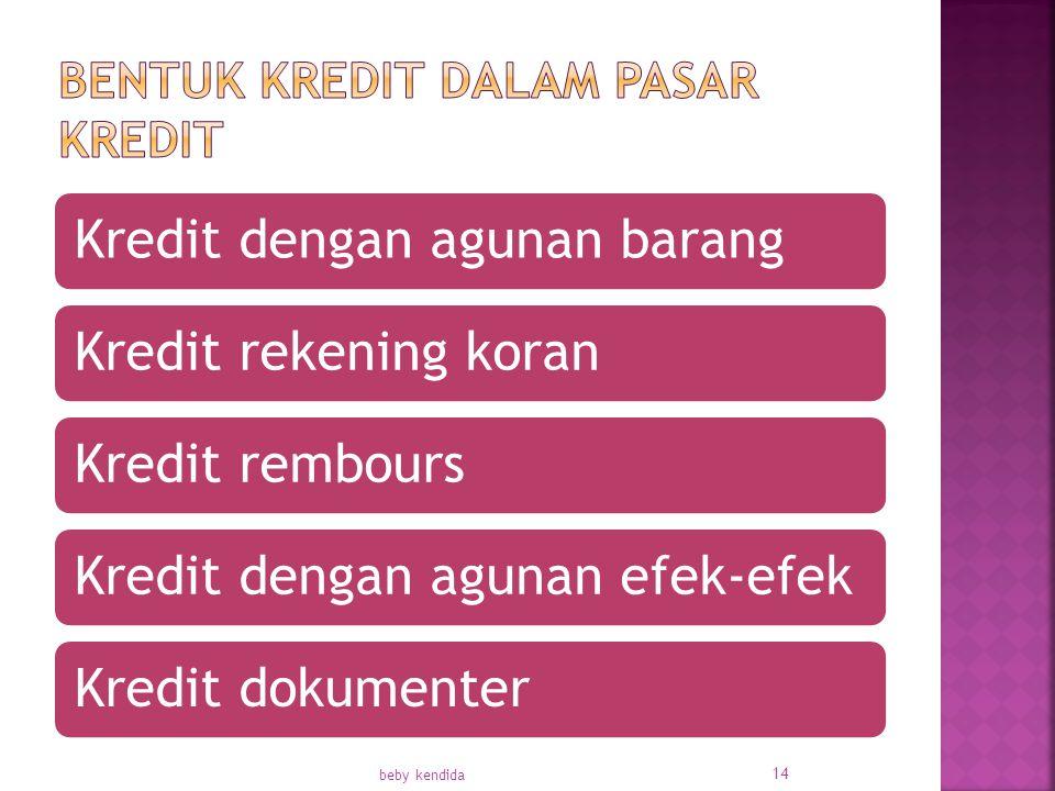 Kredit dengan agunan barangKredit rekening koranKredit remboursKredit dengan agunan efek-efekKredit dokumenter beby kendida 14
