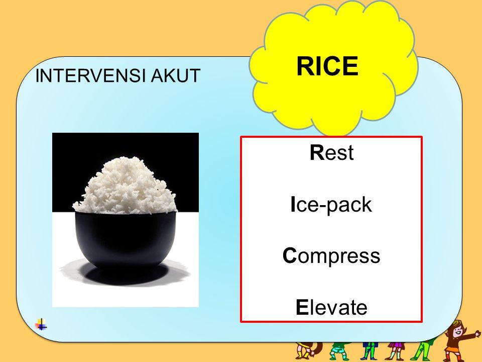 INTERVENSI AKUT INTERVENSI AKUT RICE Rest Ice-pack Compress Elevate