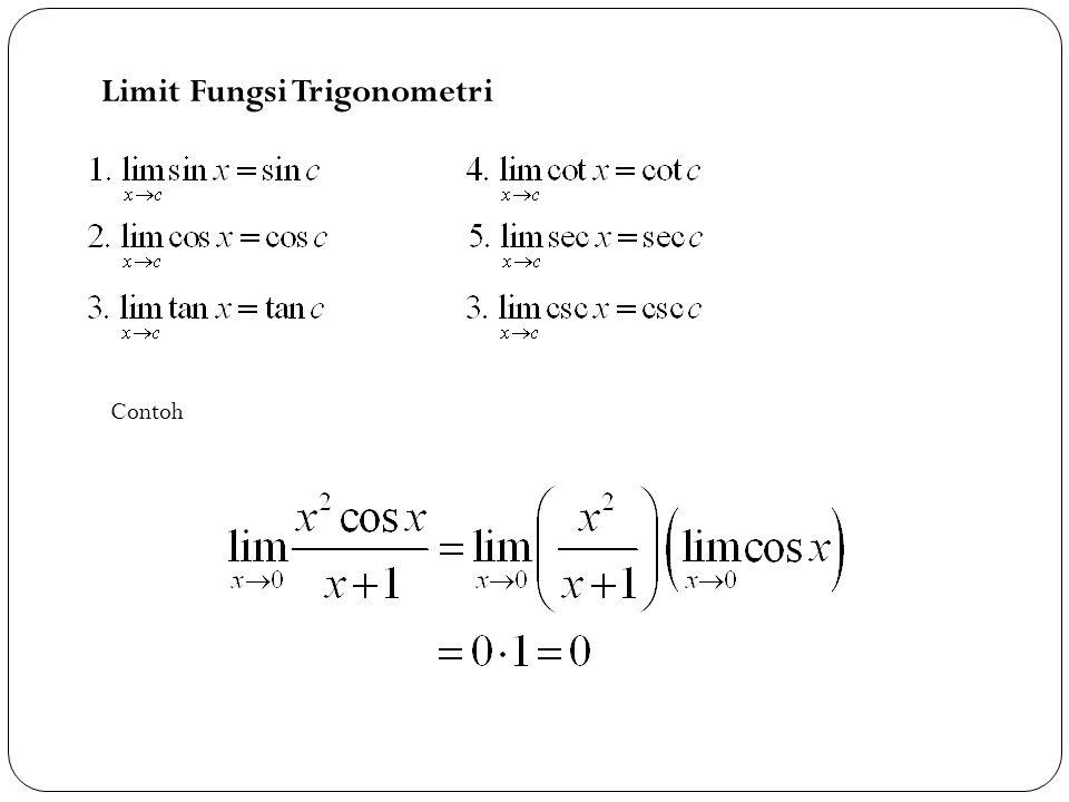 2 Limit Fungsi Trigonometri Contoh