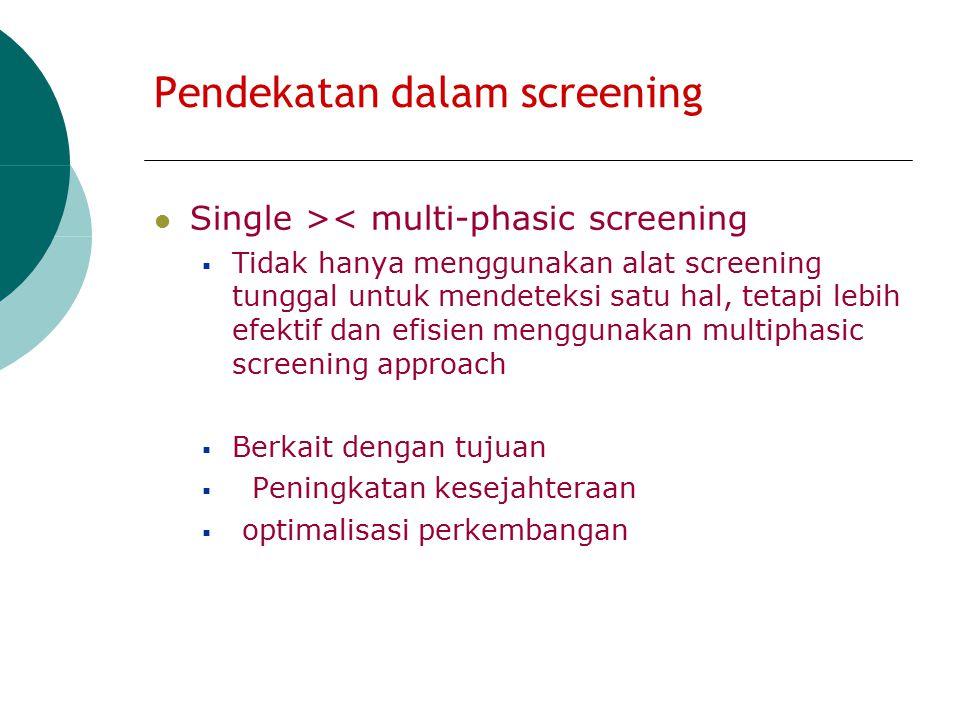 Instrument screening