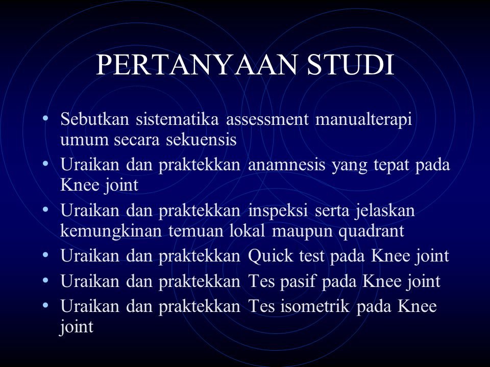 Uraikan dan praktekkan tes lig.cruciatum anterior, lig.