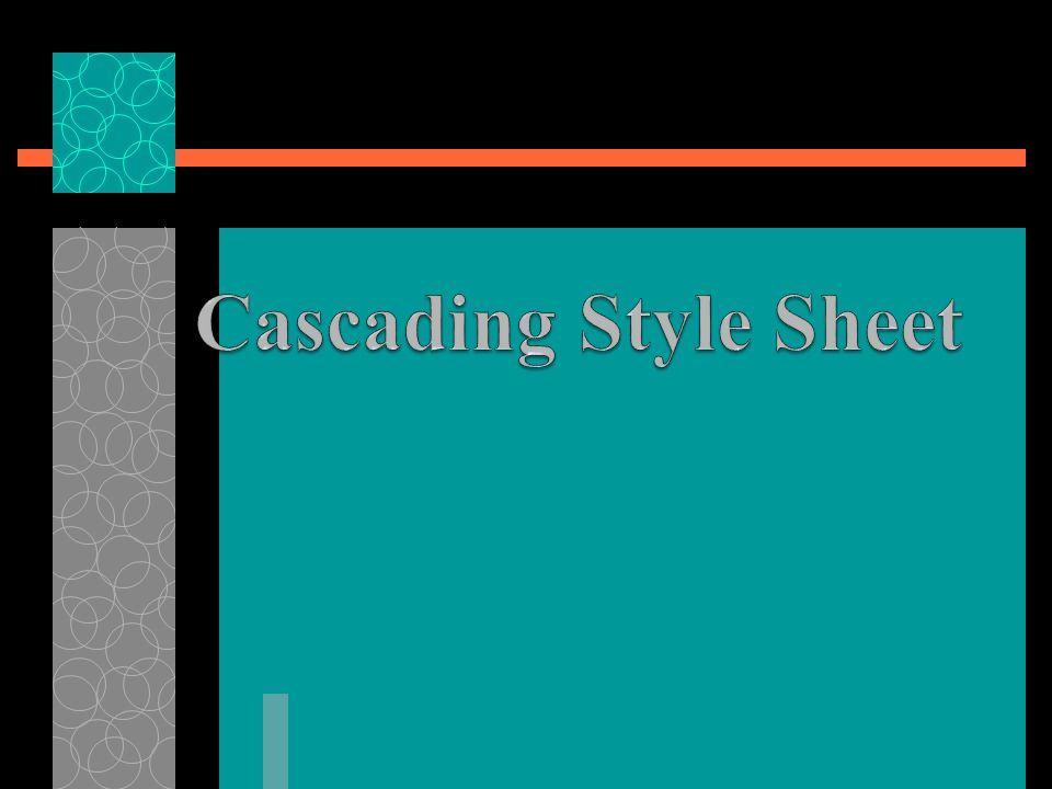 INLINE STYLE  Style pada Tag tunggal: langsung menambahkan modifikasi style dalam tag tersebut.