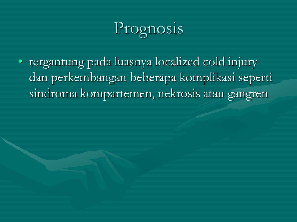 Implikasi Khusus Bagi Terapis COLD INJURYCOLD INJURY –Modalitas whirlpool dengan arus air yang lembut / gentle –Cryoterapy, memerlukan dokumentasi medis (seperti pengisian laporan kecelakaan), evaluasi medis dan pengobatan