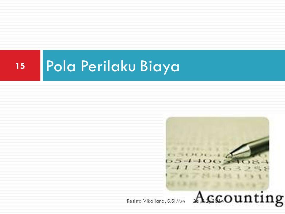 Pola Perilaku Biaya 26/12/2014Resista Vikaliana, S.Si MM 15