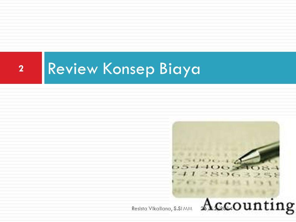 KLASIFIKASI BIAYA Produk Volume Produksi Departemen Periode Akuntansi Pengambilan Keputusan 26/12/2014Resista Vikaliana, S.Si MM 3
