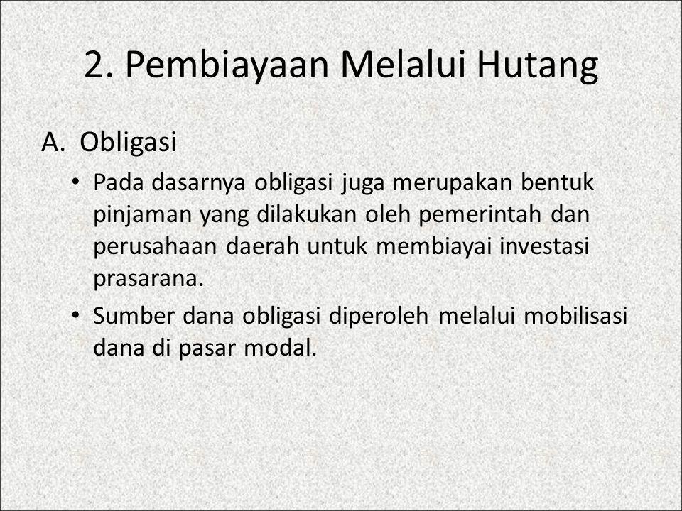 2.Pembiayaan Melalui Hutang B.