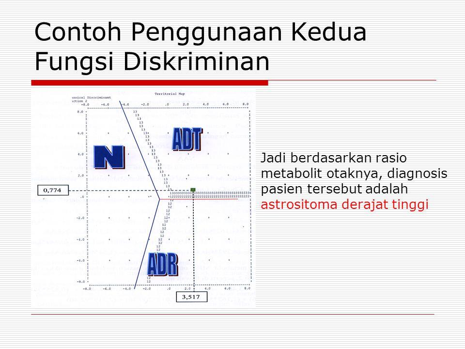 Jadi berdasarkan rasio metabolit otaknya, diagnosis pasien tersebut adalah astrositoma derajat tinggi