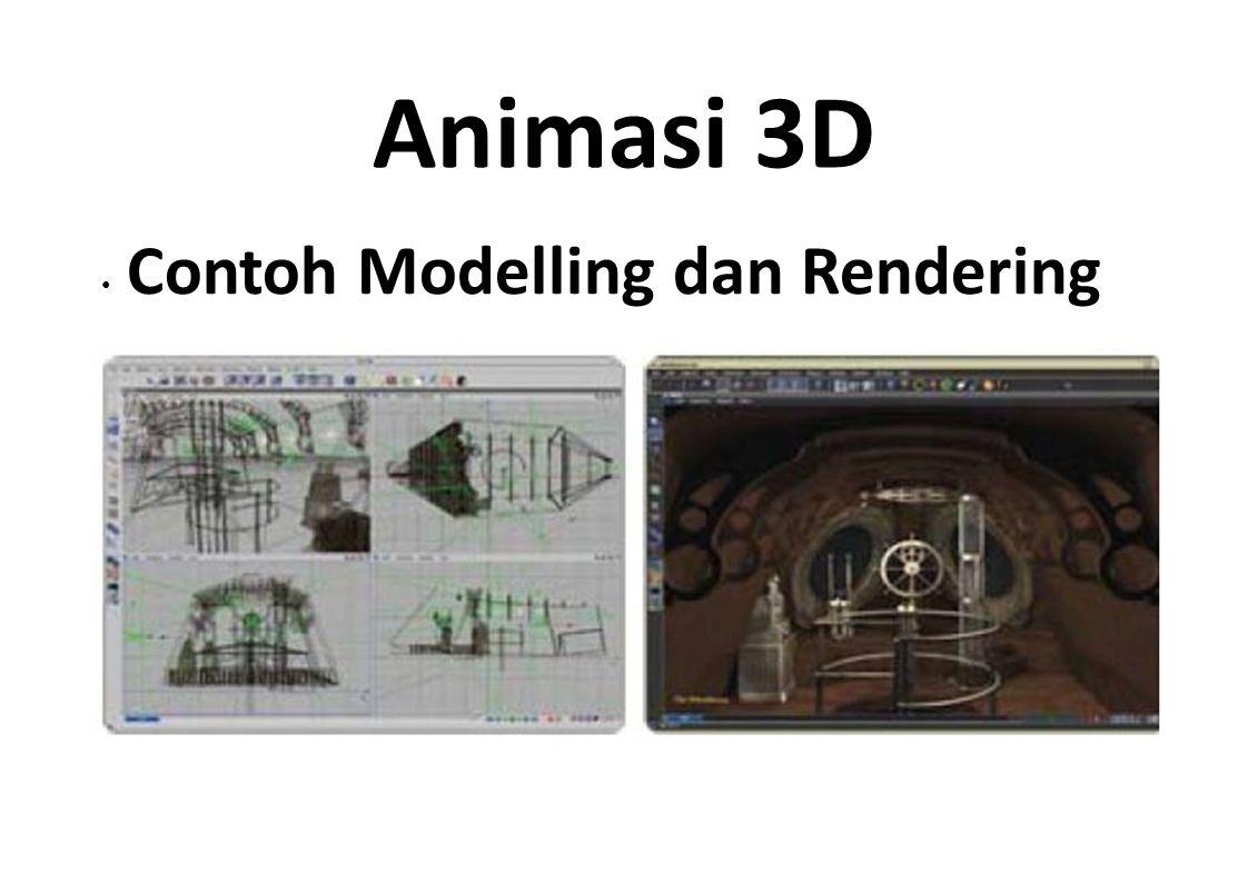 Animasi 3D Contoh Modelling dan Rendering