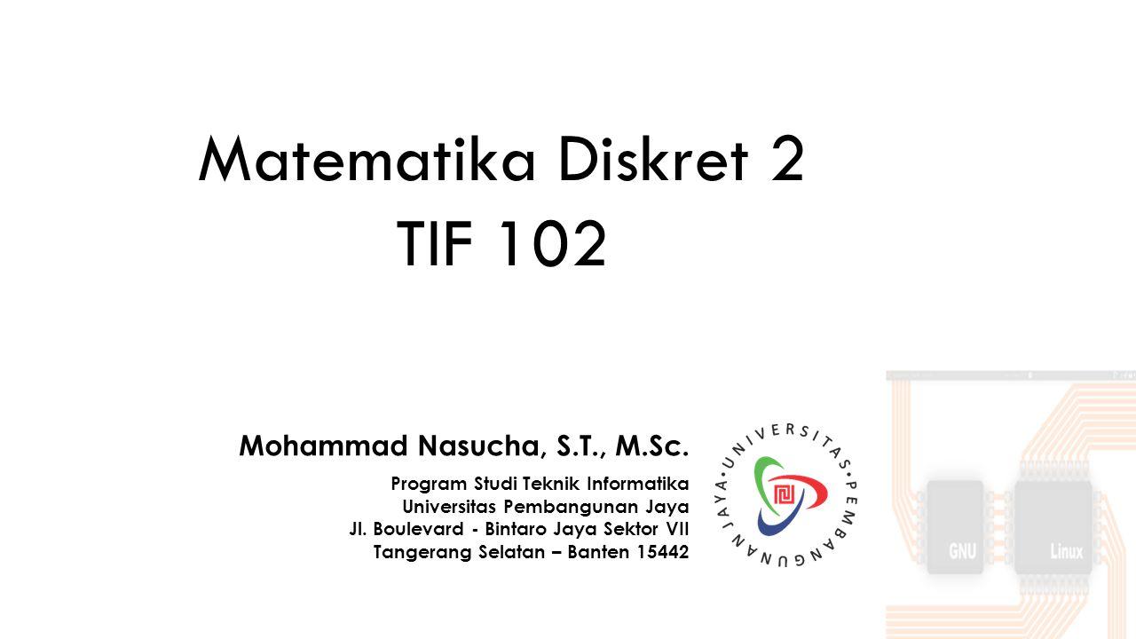 Mohammad Nasucha, S.T., M.Sc.Program Studi Teknik Informatika Universitas Pembangunan Jaya Jl.