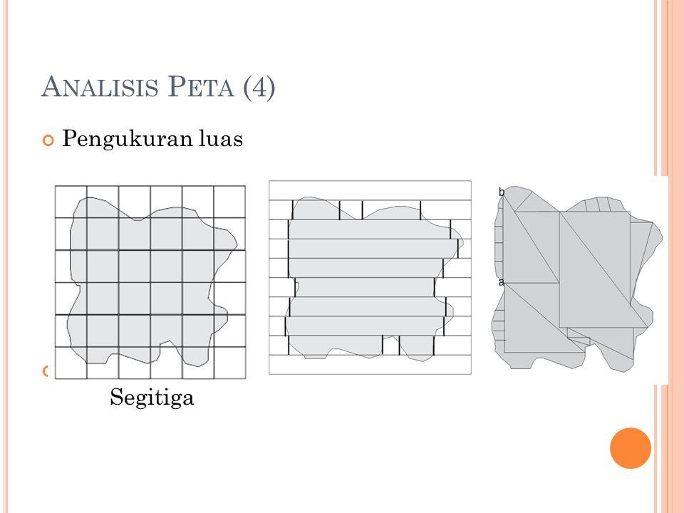 A NALISIS P ETA (4) Pengukuran luas Metode gridStrip Segitiga
