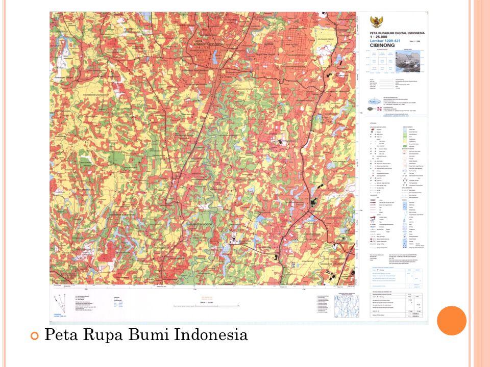 Peta Rupa Bumi Indonesia