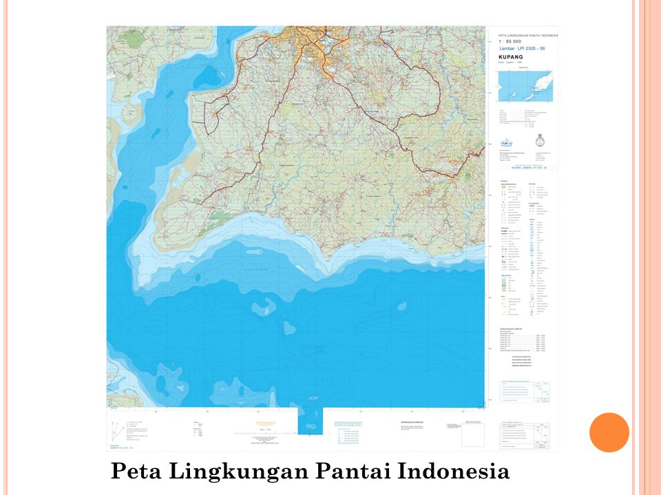 Peta Lingkungan Pantai Indonesia