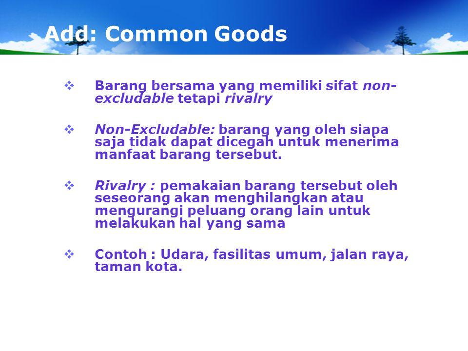 Add: Ketidaksempurnaan Pasar PENYEBAB:  Struktur pasar cenderung monopoli ataupun oligopoli.