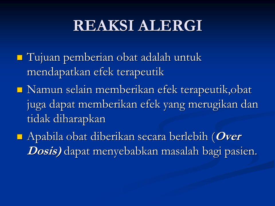 Beberapa obat dapat memberikan efek samping,misalnya antihistamin yang digunakan untuk mengurangi alergi dapat menyebabkan rasa ngantuk sebagai efek sampingnya.