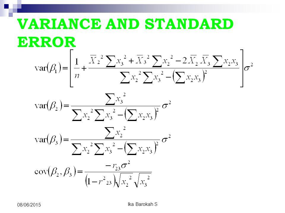 Koefisien Determinasi (R 2 ) Mengukur ketepatan /kecocokan (goodness of fit) Mengukur proporsi/presentase sumbangan x terhadap variasi y Mengukur besarnya proporsi/presentase sumbangan x 2 da x 3 terhadap variasi y secara bersama-sama (R 2 ) R 2 = ESS = ∑Ŷ 2 TSS ∑Y 2 = b 2 ∑X 2i.