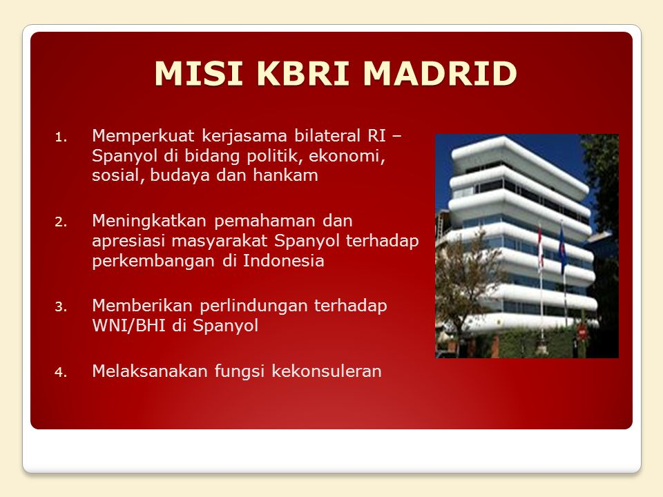 MISI KBRI MADRID 1.